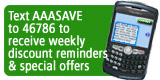 Sign up for AAA Discount Text Alerts
