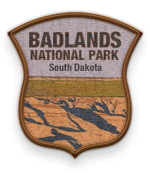 Badlands National Park 2016 patch with link to trip information and itinerary