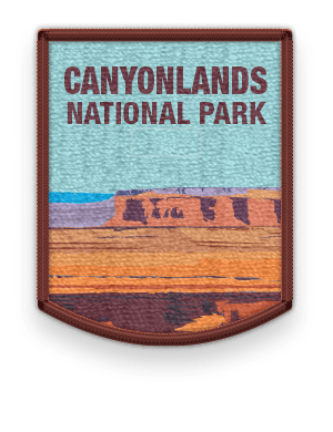 Canyonlands National Park 2016 patch with link to trip information and itinerary