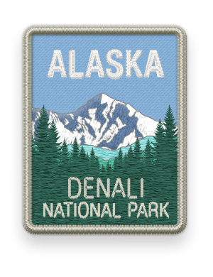 Denali National Park 2016 patch with link to trip information and itinerary