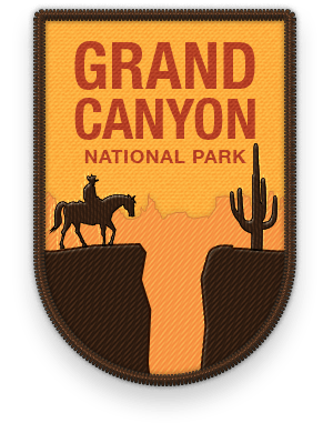 Grand Canyon 2016 National Park patch with link to trip information and itinerary