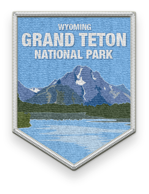 Grand Teton National Park 2016 patch with link to trip information and itinerary