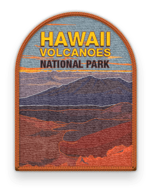 Hawaii Volcanoes National Park 2016 patch with link to trip information and itinerary