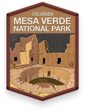 Mesa Verde National Park 2016 patch with link to trip information and itinerary