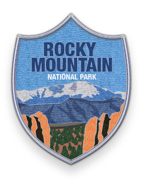 Rocky Mountain National Park 2016 patch with link to trip information and itinerary