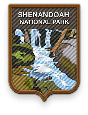 Shenandoah National Park 2016 patch with link to trip information and itinerary