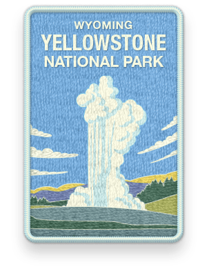 Yellowstone National Park 2016 patch with link to trip information and itinerary