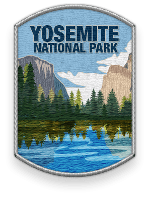 Yosemite National Park 2016 patch with link to trip information and itinerary