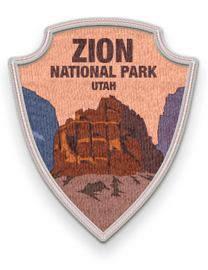 Zion National Park 2016 patch with link to trip information and itinerary