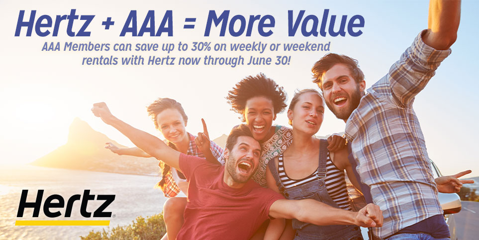 More value from Hertz from AAA on car rentals