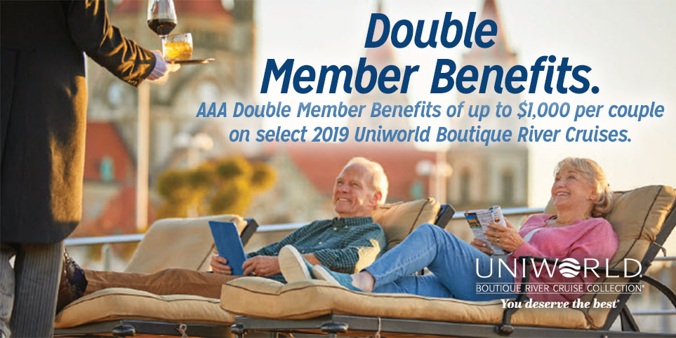 Enjoy a river cruise vacation with Uniworld and receive AAA member perks