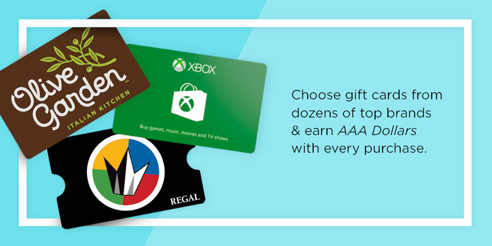 Buy Gift Cards and Earn AAA Dollars