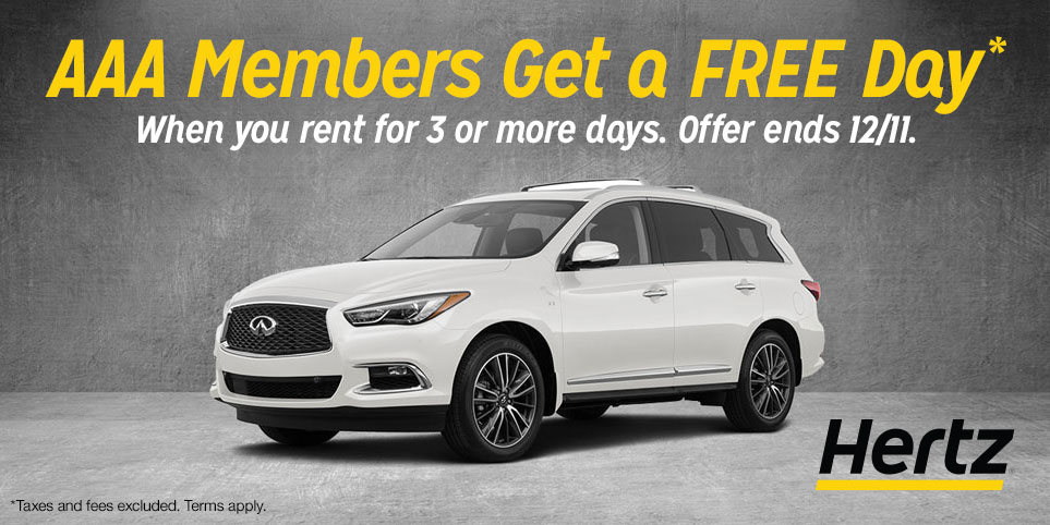 Get a free day on a Hertz car rental