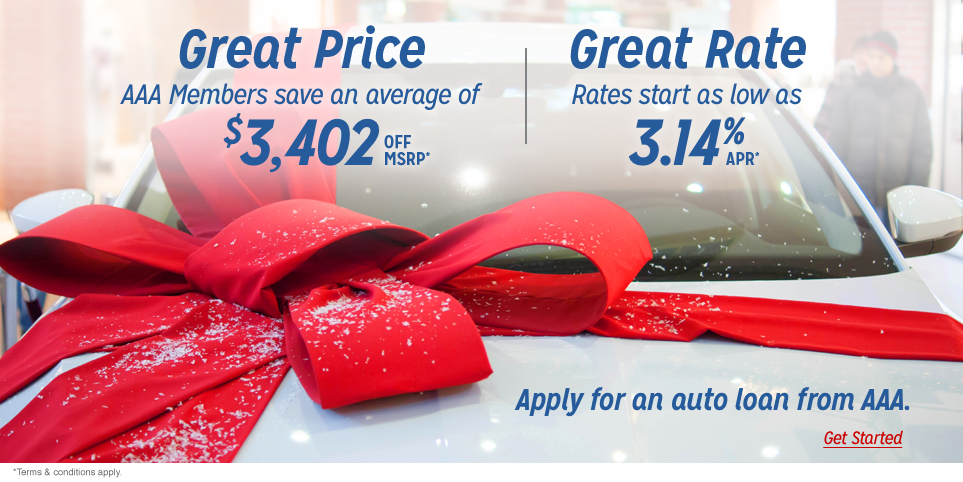 Get a great auto loan rate from AAA