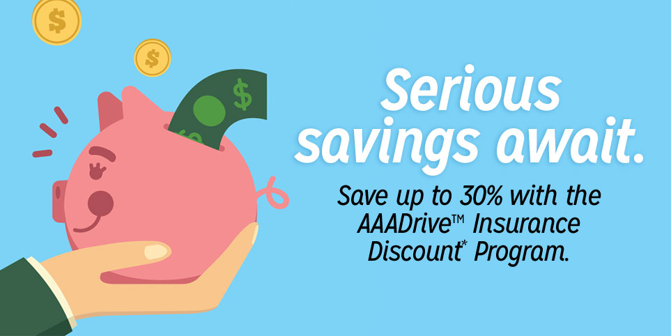 save on auto insurance with AAA Drive app